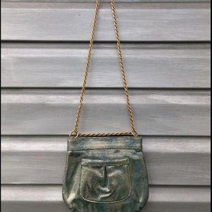 Elegant Lauren Merkin goat suede evening purse